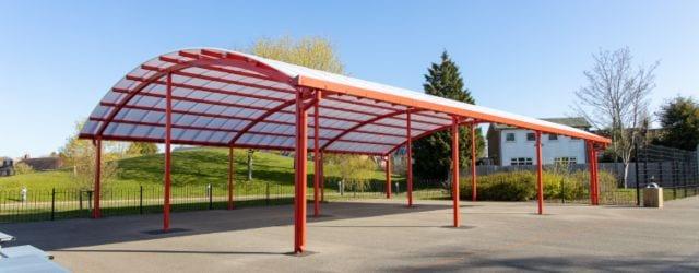 Outdoor shelter we designed for King Edward Sheldon Heath Academy