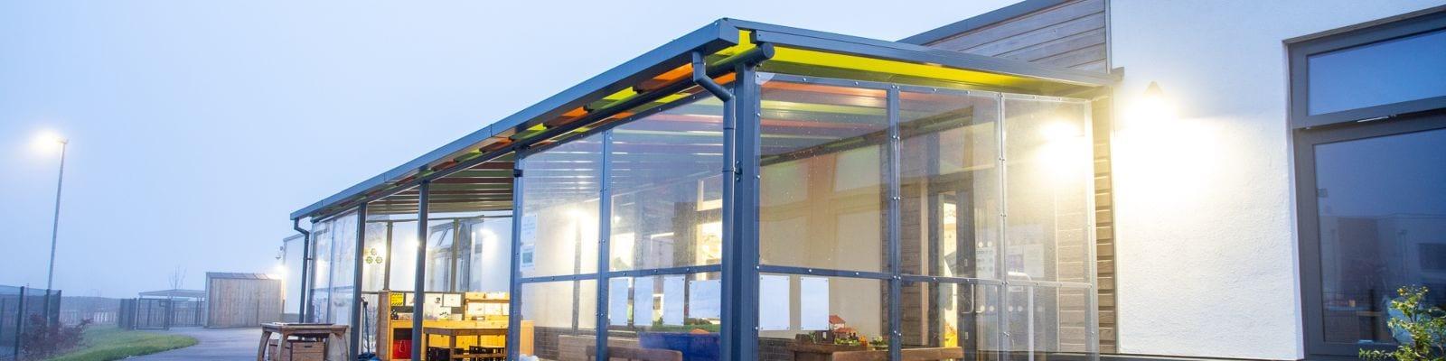 Outdoor shelter we installed at Monksmoor Park Primary School