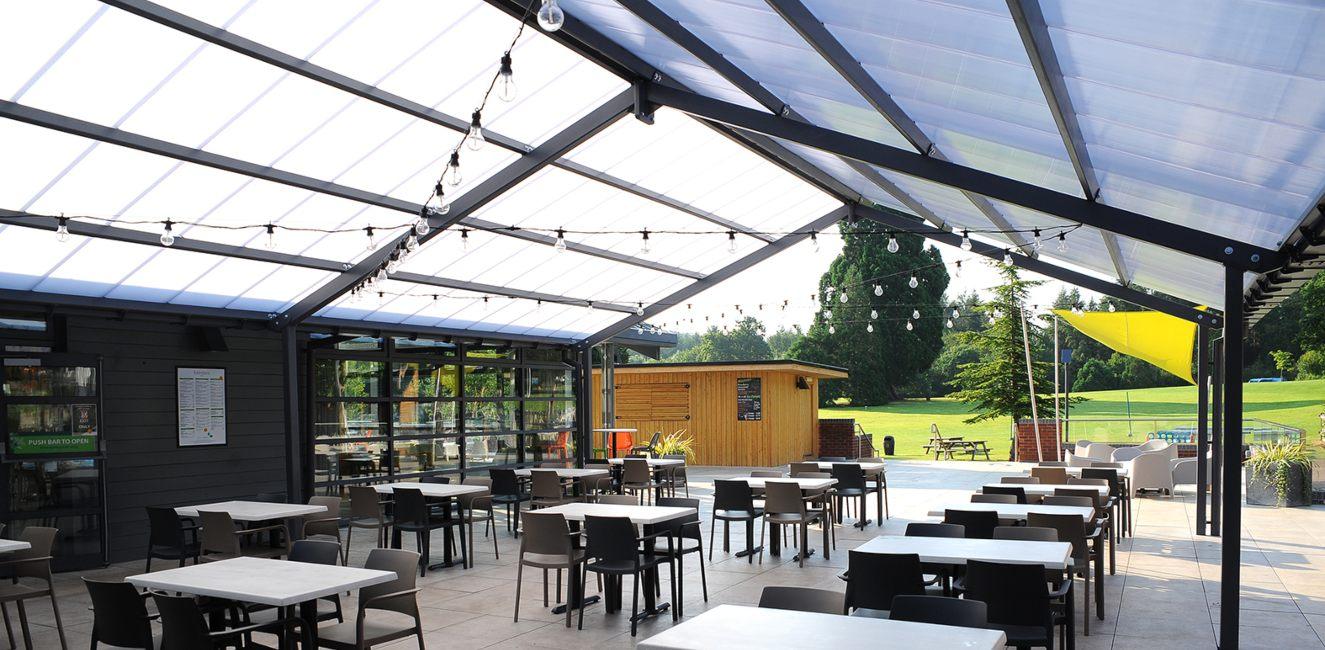 Bespoke shelter we designed for Whitemead Forest Park
