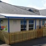 Play shelter we fitted at Llanrhaeadr ym Mochnant Primary School
