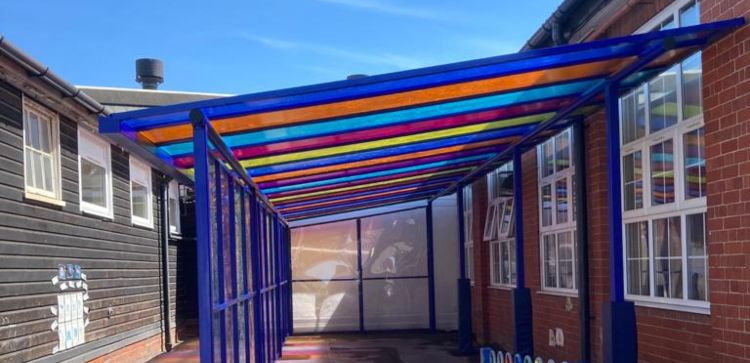 Sailsbury Primary School Colourful Canopy