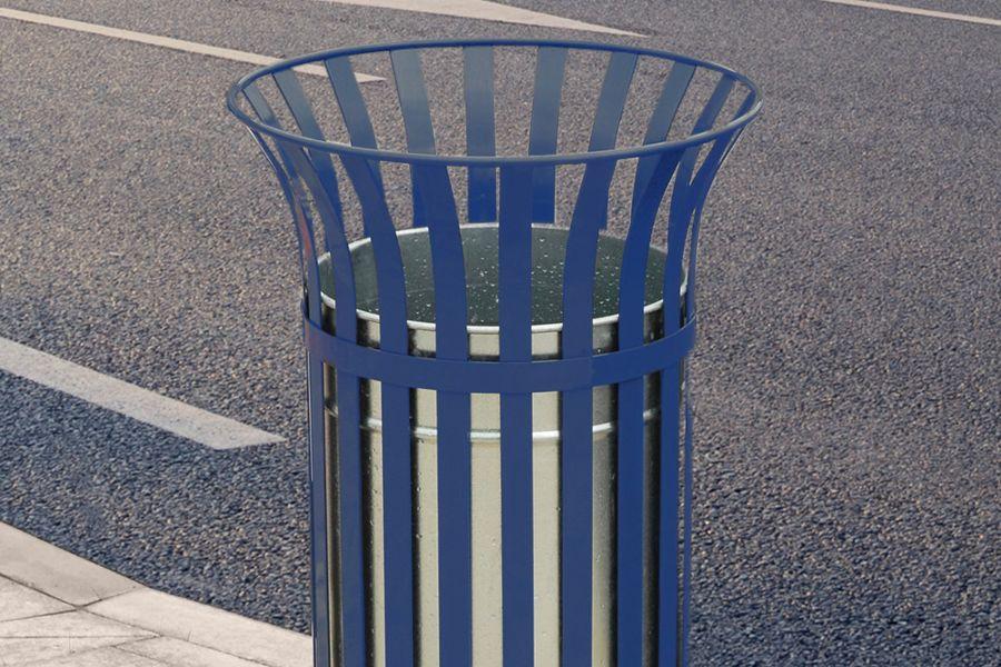 Steel Blue Bin